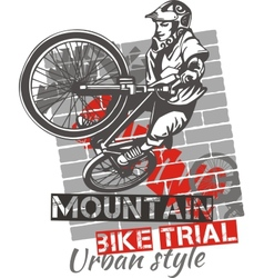 Mountain bike trial - design vector