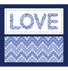Purple drops chevron love text frame vector