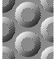 Abstract striped rings geometric seamless pattern vector