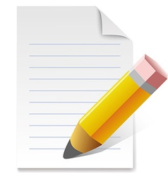 Write by pencil vector