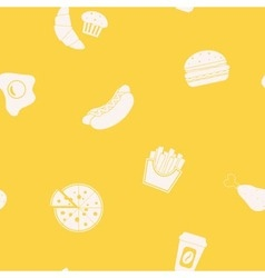 Background with fast food vector