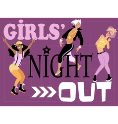Girls night out card vector