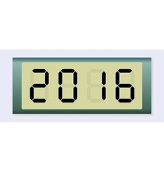 Electronic scoreboard with the number 2016 vector