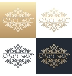 Calligraphic design element golden brand vector
