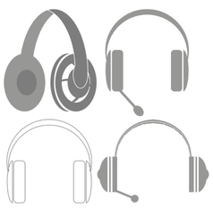 Set of headphones vector