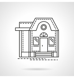 Housing flat line design icon vector