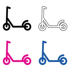 Scooter set vector