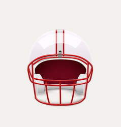 American football helmet realistic object front vector