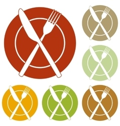Fork tape and knife sign vector