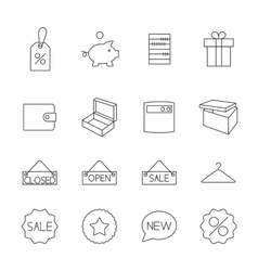Icons purchase vector