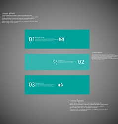 Square infographic template horizontally divided vector