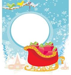 Santas Sledge vector image