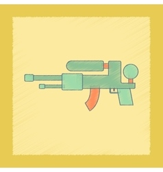 Flat shading style icon kids water gun vector