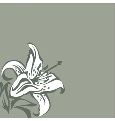 Background with lilies vector