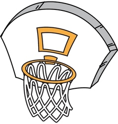 Basketball hoop vector
