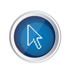 Blue emblem mouse cursor icon vector