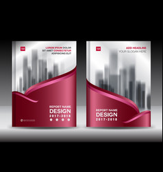Brochure template layout red cover design vector