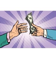 Buy sale dollars cash vector image