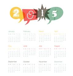 Calendar 2015 retro vector