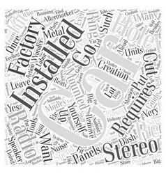 Car stereo installation word cloud concept vector
