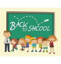 Children and teacher back to school vector image vector image