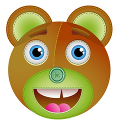 Cute bear toy vector image