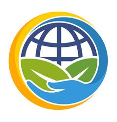 environmental care icon vector image