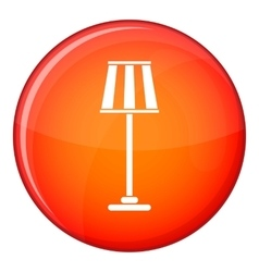 Floor lamp icon flat style vector image