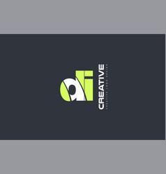 green letter di d i combination logo icon company vector image vector image