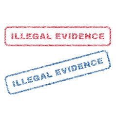 Illegal evidence textile stamps vector