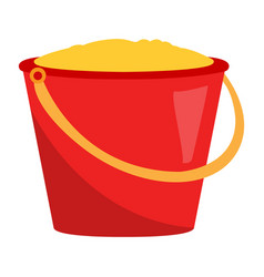 Isolated sand bucket vector