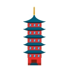 japanese building isolated icon vector image vector image