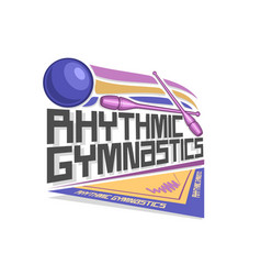 Logo for rhythmic gymnastics vector