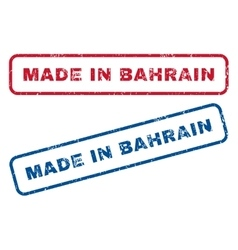 Made in bahrain rubber stamps vector