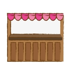 Market stall icon vector