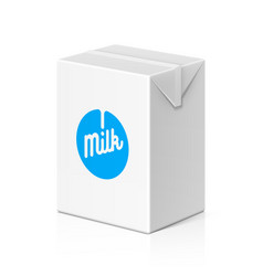 milk or juice package mock up 200ml vector image vector image