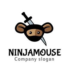 Ninja mouse design vector