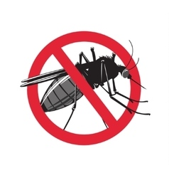 No mosquito sign isolated on white background vector image