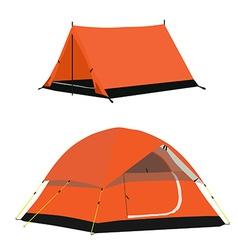 Orange tent vector image vector image