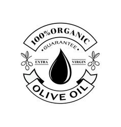 Organic olive oil 100 guarantee logo vector