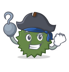 Pirate durian character cartoon style vector