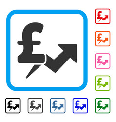 pound price growth framed icon vector image