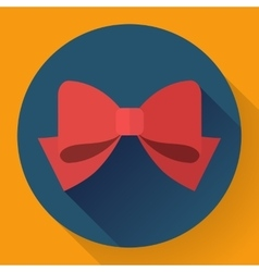 red bow icon Flat designed style vector image
