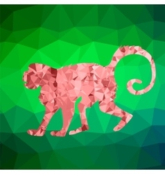 Red Mosaic Monkey vector image