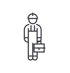 repair man linear icon sign symbol on vector image