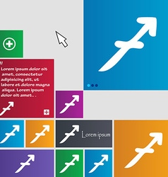 Sagittarius icon sign buttons modern interface vector