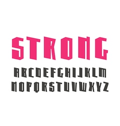 Sanserif decorative font design for titles vector