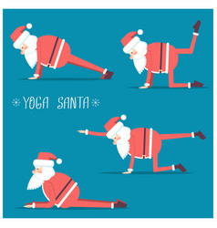 Santa claus doing yoga isolated for design vector