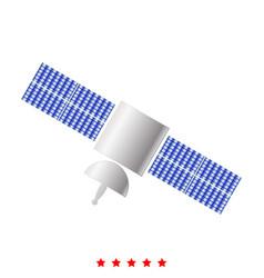 Satellite icon different color vector