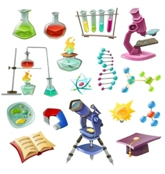 Science decorative icons set vector